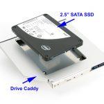 Sostituire l'unità DVD del computer portatile con un SSD