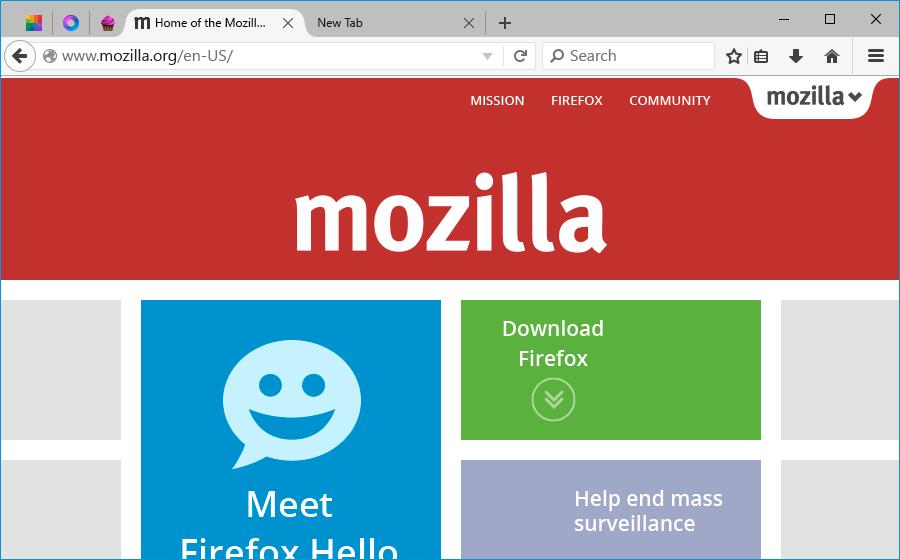 Firefox per Windows 10