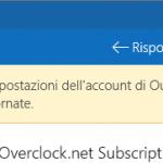 Le impostazioni dell'account di Outlook non sono aggiornate– notifiche di Windows 10 posta app in Centro notifiche