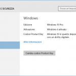 Come attivare Windows 10 con un codice Product key di Windows 7 o 8