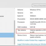 Come sapere se ho windows 10 32 o 64 bit?