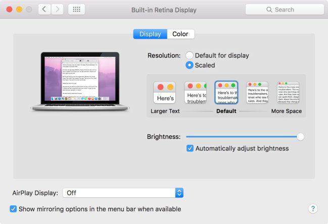 monitor 4K per Mac