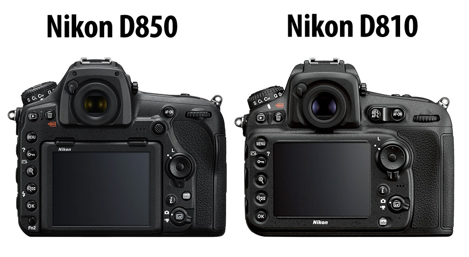 Nikon D850 vs. D810